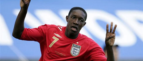 Danny Welbeck in England action (copyright thefa.com)
